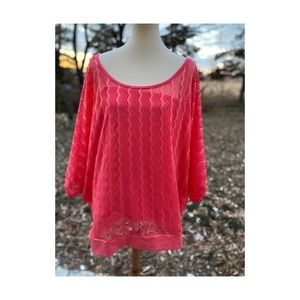 Candy Couture Casual To Shirt Pink Mesh Tank Layer